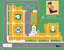 Lofts at 5300 Site Plan Rendering Display by Marketing Results Atlanta