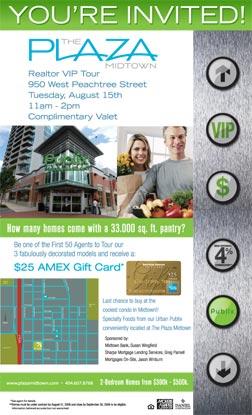 Plaza Midtown Advertising Flyer Design by Marketing Results in Atlanta