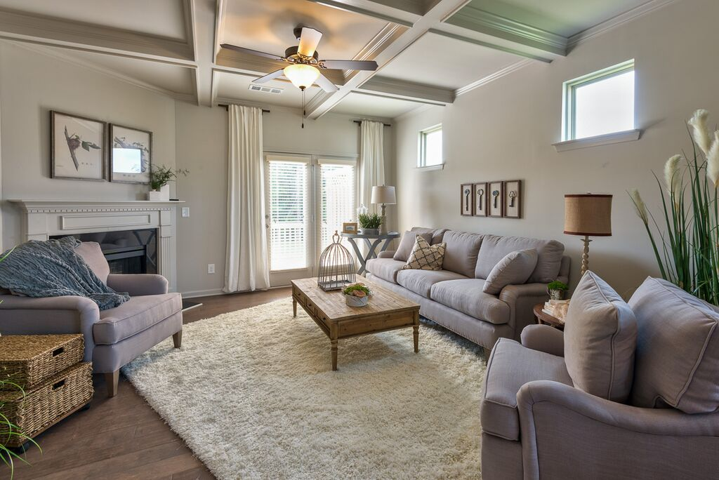 Paxton Landing Announces New Decorated Designer Model Home The – Model Home Living Rooms