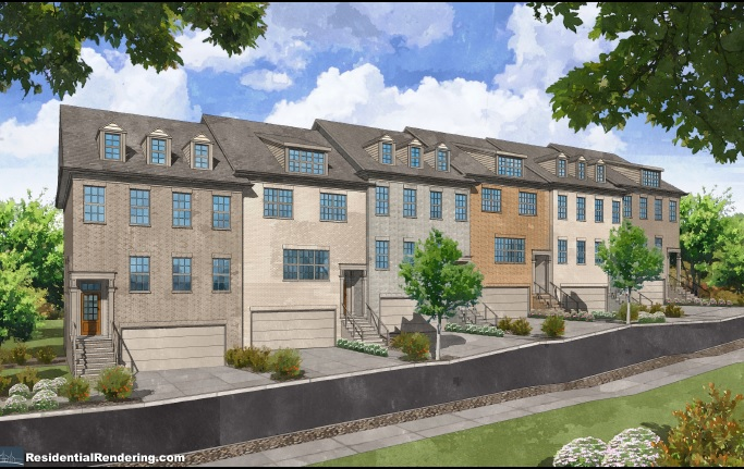 Wyndy hill townhomes now under construction and now for Townhouse construction cost