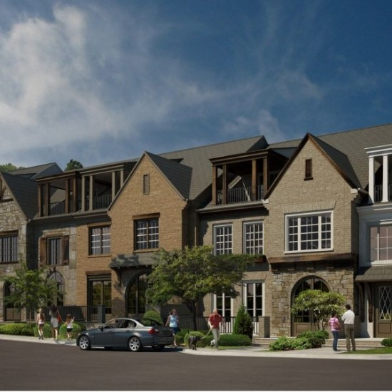 West Main Townhomes in Historic Downtown Alpharetta - rendering