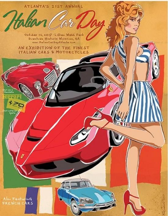 Poster Italian Car Show